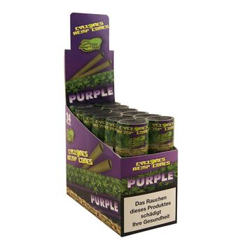 Cyclones Purple Hemp Blunt Cone Wrap 2 Stück