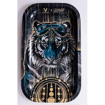V Syndicate Rolling Tray Large aus Metall 27 x 16 cm Tiger