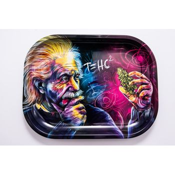 V Syndicate Rolling Tray Small aus Metall 18 x 14 cm Einstein