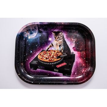 V Syndicate Rolling Tray Small aus Metall 18 x 14 cm DJ Cat