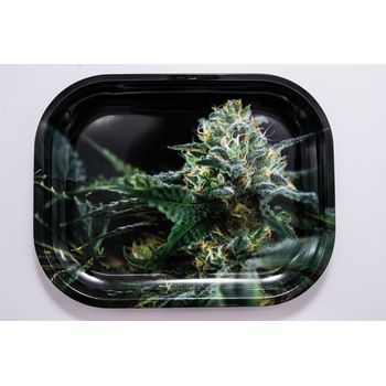V Syndicate Rolling Tray Small aus Metall 18 x 14 cm OG Kush