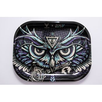 V Syndicate Rolling Tray Small aus Metall 18 x 14 cm Owl