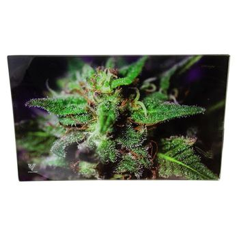 V Syndicate Rolling Tray Blue Dank Dream 26 x 16 cm aus Glas Mittel