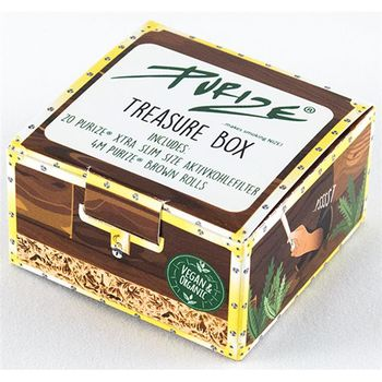 Purize Treasure Box, Brown Rolls und 20 Xtra Slim Aktivkohlefilter