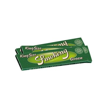 Smoking King Size Green pure Hemp Longpaper