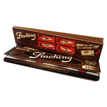 Vorteilspack 5x Smoking King Size Brown Longpaper inkl. Tips